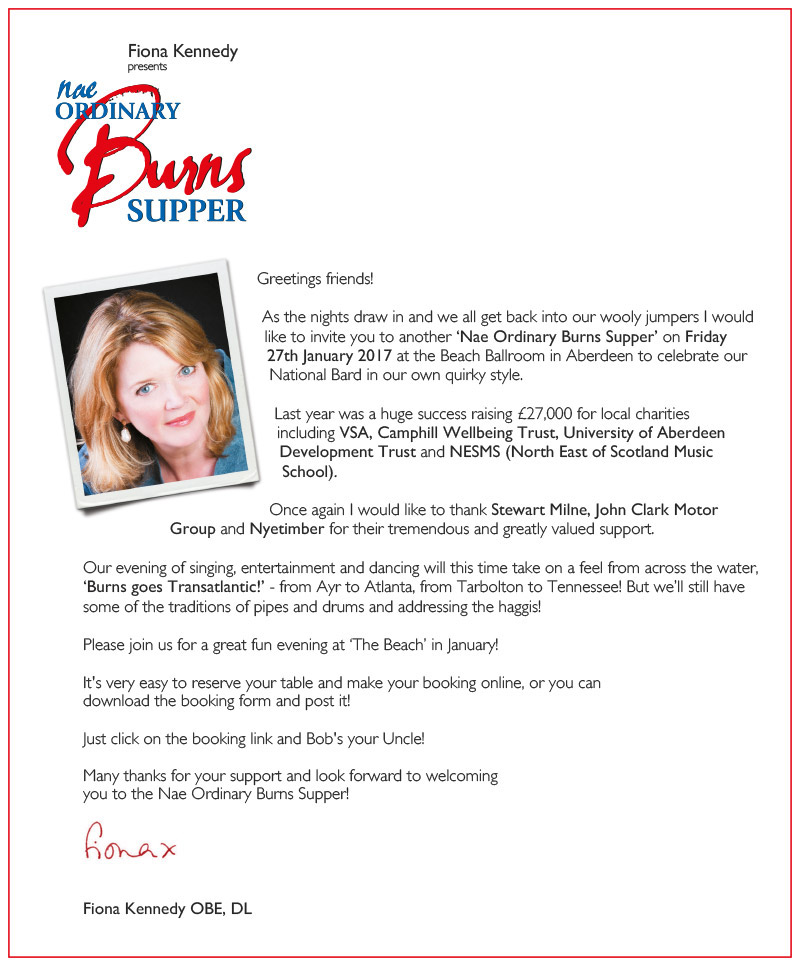 A message from Fiona